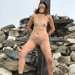 Submissive In The Mountains Part Two - Nude Girls, Brunette, Mature, Outdoors, Shaved, Amateur, Medium Tits