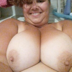 Extremely large tits of my room mate - Patrizia