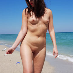 A Day In Haulover Beach - Nude Girls, Beach, Brunette, Outdoors, Shaved, Amateur, Medium Tits