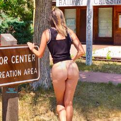 Nirvana Blue Mesa - Public Exhibitionist, Outdoors, Public Place, Shaved, Amateur, Firm Ass