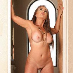 Sexy After A Party - Nude Amateurs, Big Tits, Brunette, High Heels Amateurs, Mature