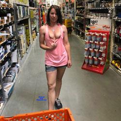 Fun At Home Depot - Brunette, Public Exhibitionist, Flashing, Public Place, Amateur