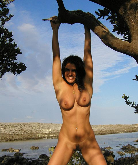 Pic #1 - Dark Hair - Dark Hair, Huge Tits, Nude Outdoors , Dark Hair, Large Boobs, Nude Outdoors, Hang, Large Firm Breasts, Well Formed And Rounded Knockers, Big Aerolas With Little Nips
