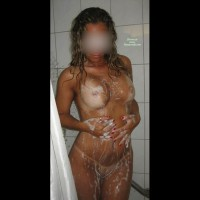 One Hot Mama In The Shower
