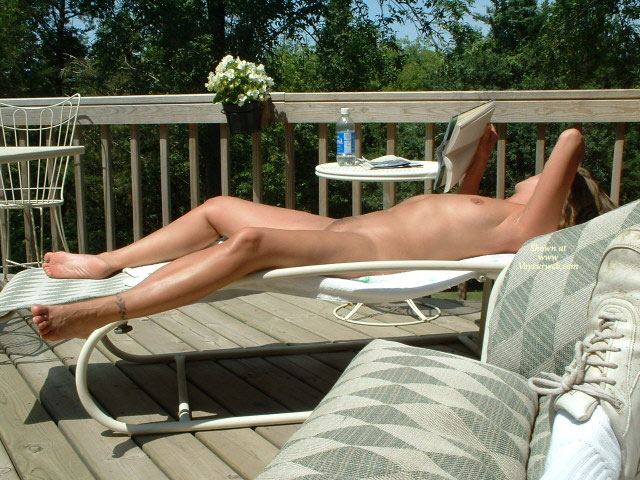 Pic #1 - Nude Wife On Deck With Book - Spread Legs, Naked Girl, Nude Amateur, Nude Wife , Naked Sun Tanning, Legs Spread Wide Apart, Tanning Her Twat, Lying On Her Back, Fully Nude On Lawn Chair, Tanning, Enjoying The Sun Nude, Nude Lying On Back Deck, Legspread On The Deckchair, Lying Nude On Deck, Nude Sunbathing