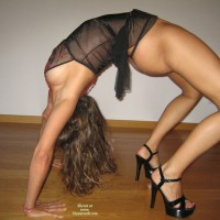 Bent Over Backwards In Thong And High Heels Profile - Heels, Long Legs