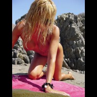 Blonde Nude Wife Doggie Style On Beach - Big Tits, Blonde Hair, Long Hair, Perfect Tits, Naked Girl, Nude Amateur, Nude Wife