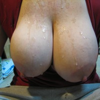 Extremely large tits of my wife - wife