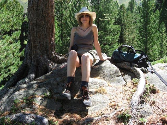 Pic #1 - Alpine Walking , Alpine Walking Can Be So Tiring, It's Very Sensible To Take Regular Breaks :-)
