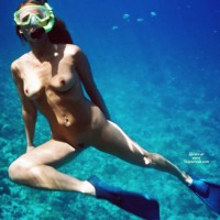 Snorkeling Nude - Long Hair, Naked Girl, Nude Amateur