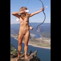 Nude On Mountain Peek - Blonde Hair, Long Hair, Naked Girl, Nude Amateur