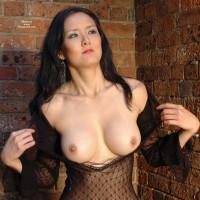 Creamy Asian Skin - Black Hair, Flashing, Large Breasts, Long Hair, Pierced Nipples