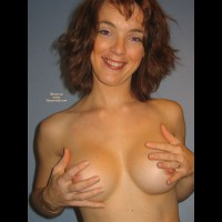 Topless Wife - Brown Hair, Erect Nipples, Perfect Tits, Topless, Topless Wife