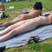 Nude Sunbathing - Nude In Public, Shaved Pussy, Naked Girl, Nude Amateur