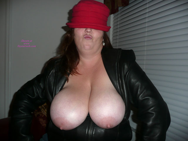 Pic #1 - Huge Boobs Hanging Out Of Leather Jacket - Huge Tits , Wife Exposing Her Large Tits, Balloon Boobs, Very Huge Tits, Huge Hanging Tits, Very Large Aerolas, Plumb Tits, Huge Boobs, Tits Out Of Jacket