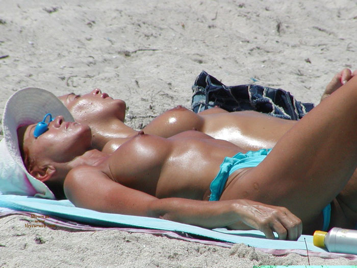 Pic #1 - Blue Monokini - Big Tits, Large Breasts, Perky Tits, Topless , Perky Nipples, Two Girls, Tan Body, White Hat, Two At A Time, Large Tits, Full Round Breasts, Topless Bikini