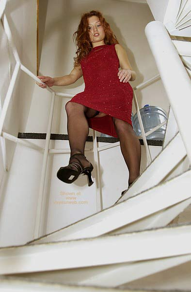 Pic #2 - Redhead in Red Dress