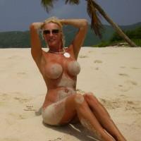 Sandy Tits - Big Tits, Blonde Hair, Large Breasts, Long Hair, Long Legs