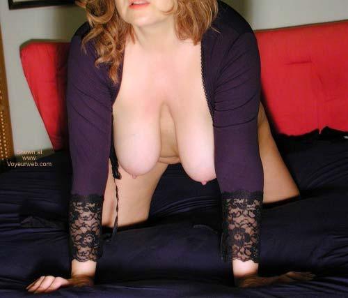 Pic #1 - Black Stockings On a White Sofa