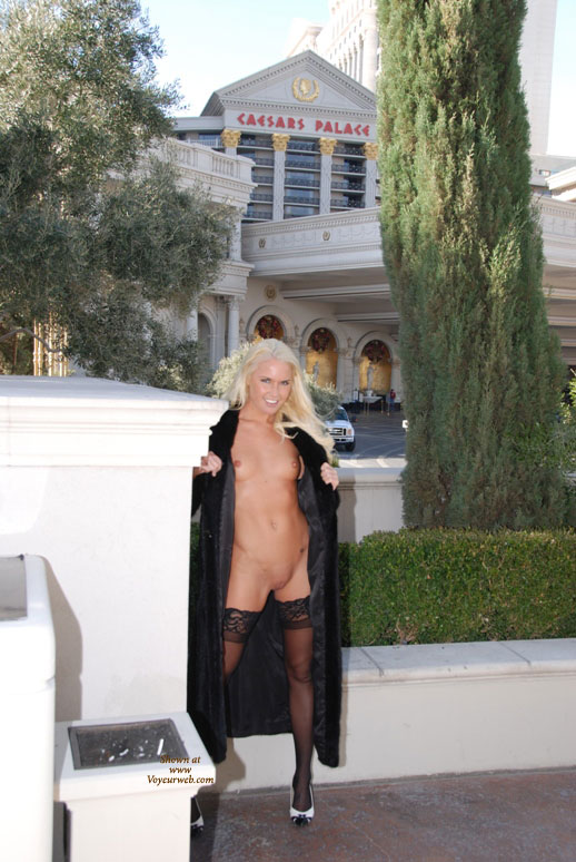 Pic #1 - Flashing At The Casino - Blonde Hair, Flashing, Shaved Pussy, Naked Girl, Nude Amateur , Fur Coat, Bleached Hair, Frontal Nude, Skinny Legs, Great Stockings, Standing Nude Under Coat, Nude Under Coat, Small Titties, Naked Outdoors, Outside Of Casino, Black Lace Top Hold Up Stockings, Quick Flash, Nude In Vegas, Las Vegas, Black And White Peep Toe Shoes, Las Vegas, Nv, Platinum Blond Hair