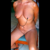 Nipple Clamps - Bondage, Firm Tits, Landing Strip, Trimmed Pussy