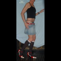 Man In Skirt And Heels