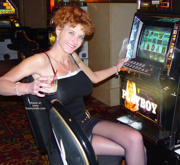 Pic #1 - Sandy Playing With Her Slot!