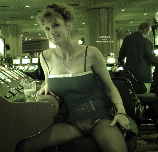 Pic #2 - Sandy Playing With Her Slot!