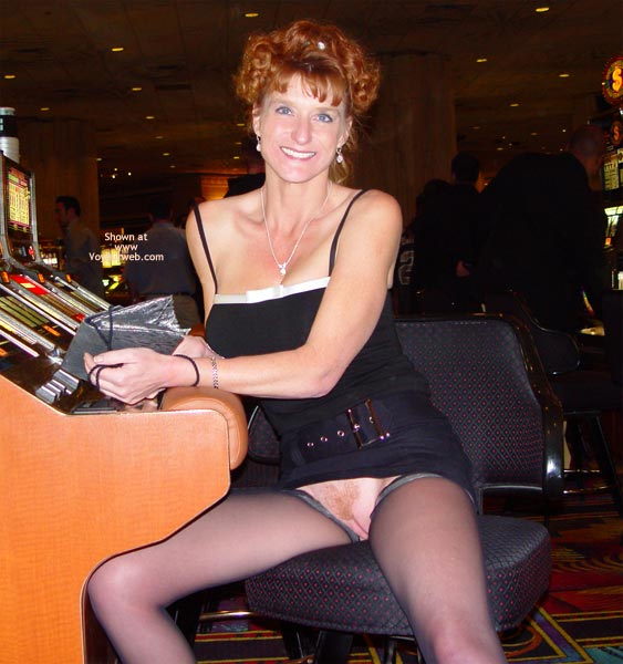 Pic #3 - Sandy Playing With Her Slot!