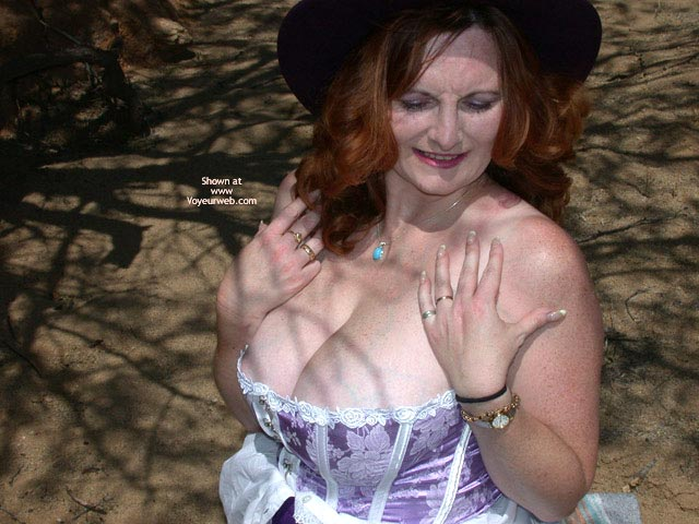 Pic #2 - 2nd Half Of Buxomgirl In A Purple Corset!