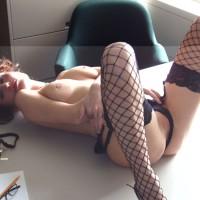Fishnet Stockings - Spread Legs, Naked Girl, Nude Amateur, Spread Eagle