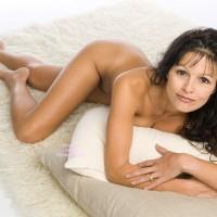 Nude Milf Lying On Stomach - Black Hair, Brunette Hair, Long Legs, Milf, Naked Girl, Nude Amateur