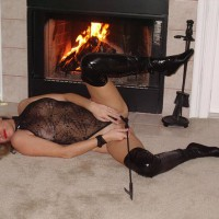 Sexy Ly The Fireplace