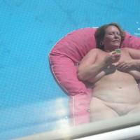 Older Babe Sunbathing
