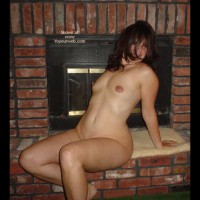 Hot Stuff At The Fireplace