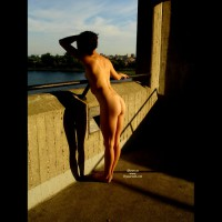 Rear Nude Girl On Bridge - Naked Girl, Nude Amateur