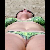 Painted Bikini Pussy View - Milf, Sunglasses, Naked Girl, Nude Amateur, Nude Wife