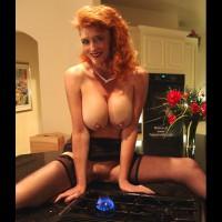 Redhead With Big Tits - Erect Nipples
