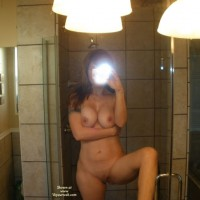 Naked SELF PHOTO Of Wife - Big Tits, Erect Nipples, Large Breasts, Self Shot, Shaved Pussy, Naked Girl, Naked Wife, Nude Amateur, Nude Wife